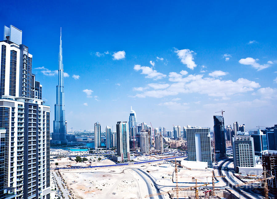 Arab Photograph - Panoramic Image Of Dubai City by Anna Om