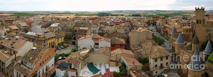 Castle Photograph - Panoramic View Of Olite by Alfredo Rodriguez