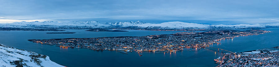 Architecture Photograph - Panoramic View Of Tromso In Norway  by Ulrich Schade