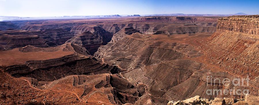 Panoramic Photograph - Panormaic View Of Canyonland by Robert Bales