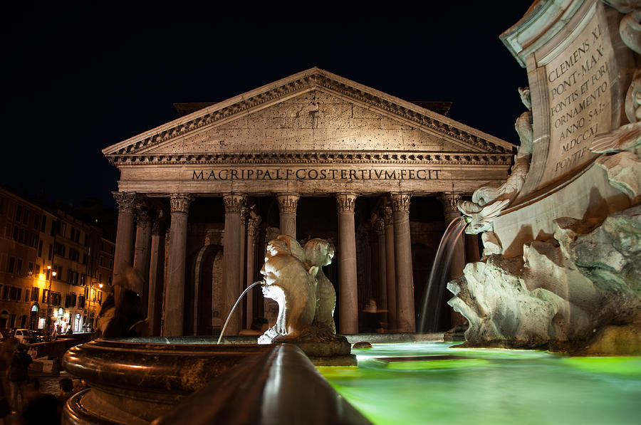 Rome Photograph - Pantheon Rome by Stavros Argyropoulos