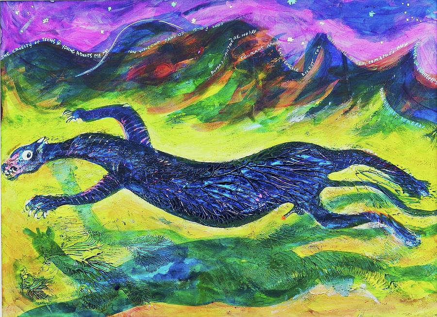 Artwork Painting - Panther In The Springtime by Ion vincent DAnu