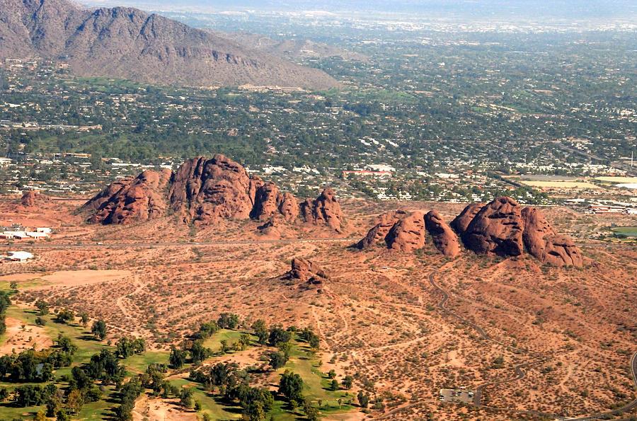 Aerial Photography Photograph - Papago Park Arizona by David Lee Thompson