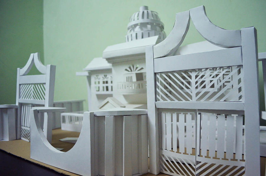 Paper Sculpture - Paper Miniature Model by Mohit  Lakhmani