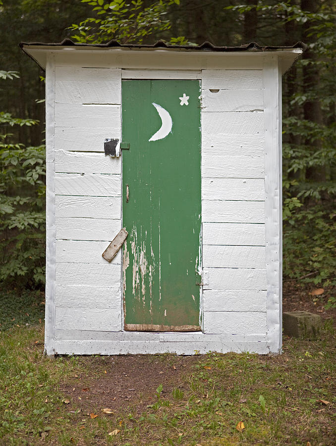Paper Moon Outhouse Photograph By John Stephens