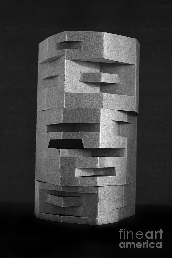 Folded Sculpture - Paper Scuplpture by Igor Kislev
