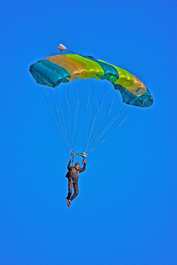 Parachute Photograph - Parachuting by Karol Livote