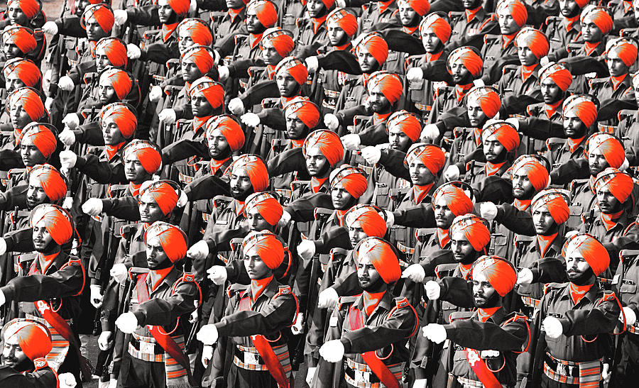 Indian Photograph - Parade March Indian Army by Sumit Mehndiratta