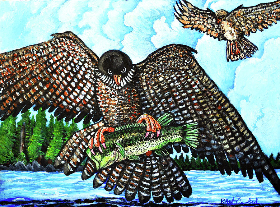 Flacon Painting - Paragon Falcon by Bob Crawford