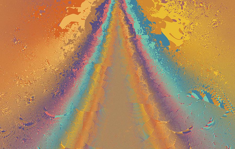 Fractal Digital Art - Parameter Space Mountain by Mark Greenberg