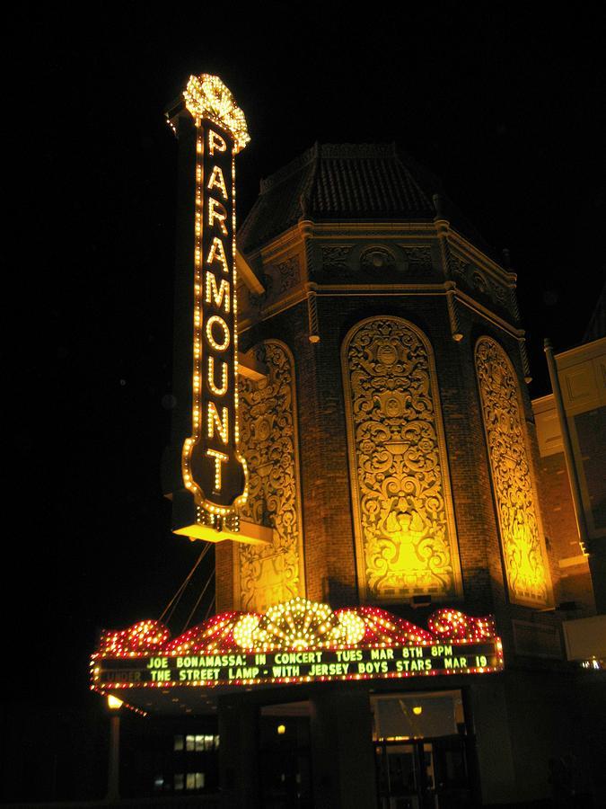 Movie Theatre Photograph - Paramount Theatre Illinois by Todd Sherlock