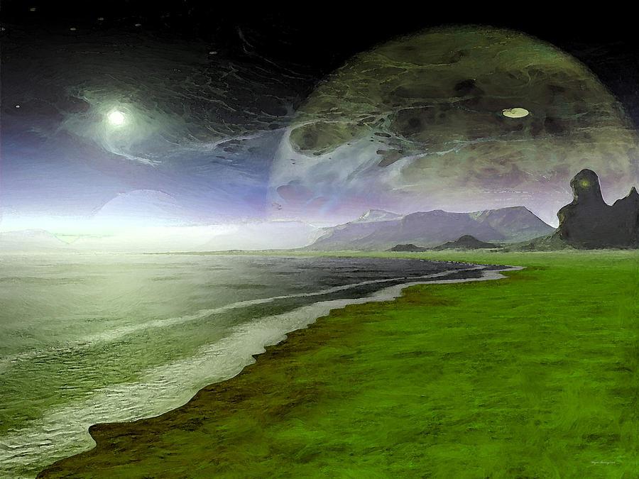 Moon Painting - Paranormal Activity by Wayne Bonney