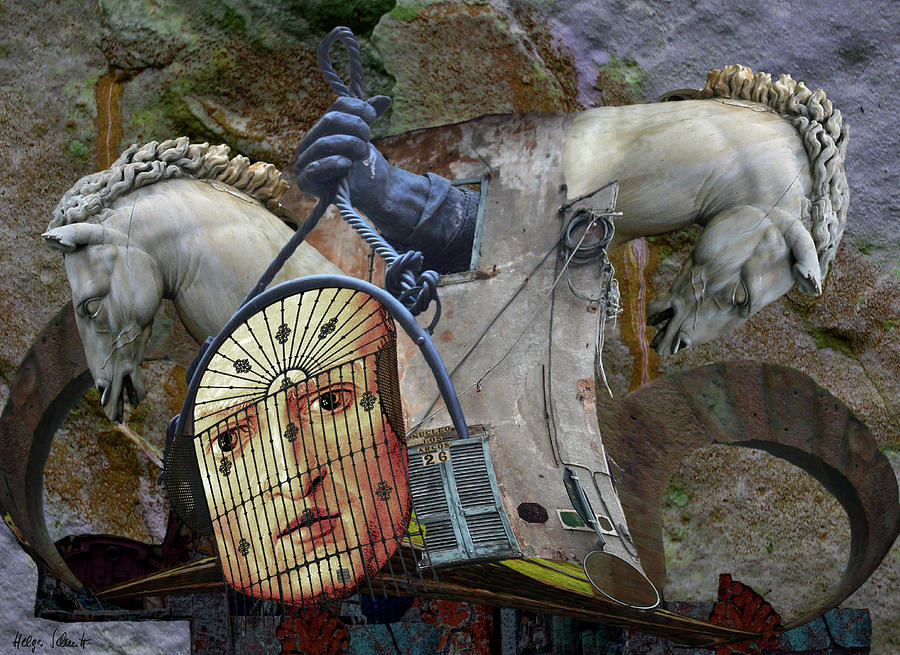 Surreal Digital Art - Paraphrase by Helga Schmitt