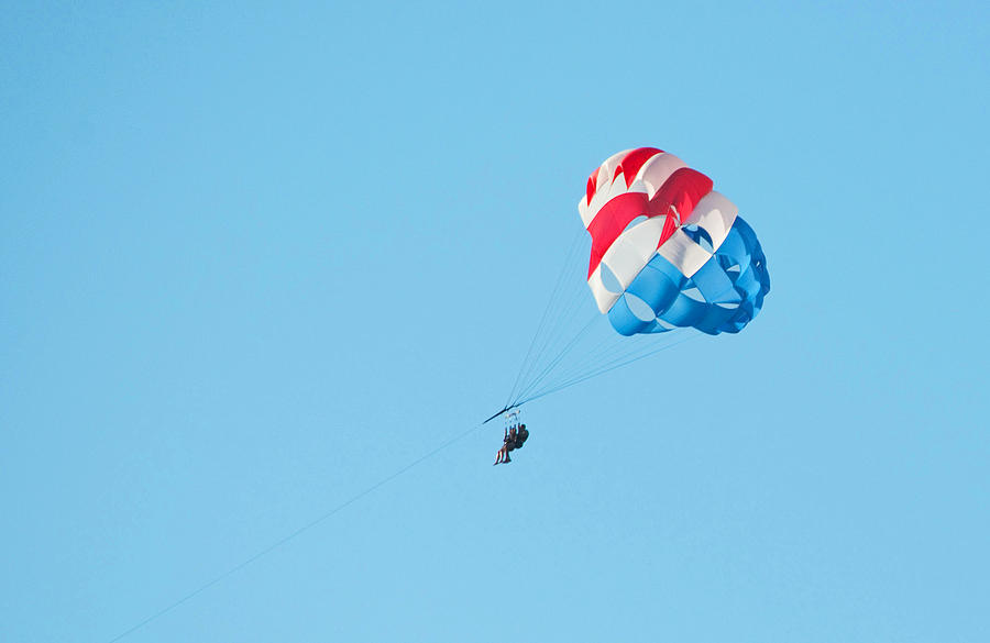 Parasailing Photograph - Parasailers Over Marco by Christine Stonebridge