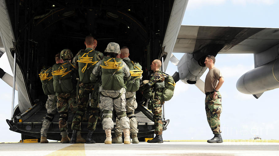 Briefing Photograph - Paratroopers Gather Around The Back by Stocktrek Images