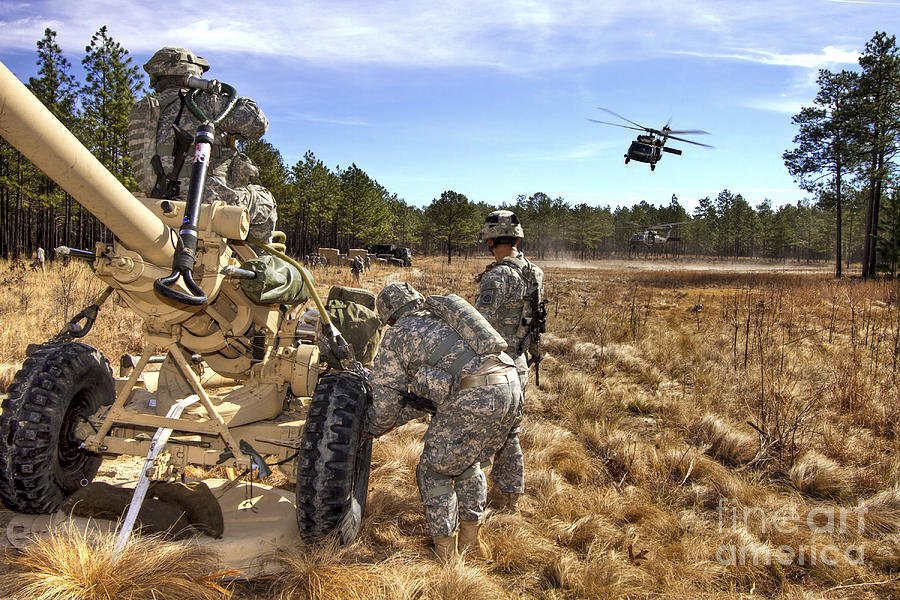 North Carolina Photograph - Paratroopers Prepare To Hook Up An by Stocktrek Images