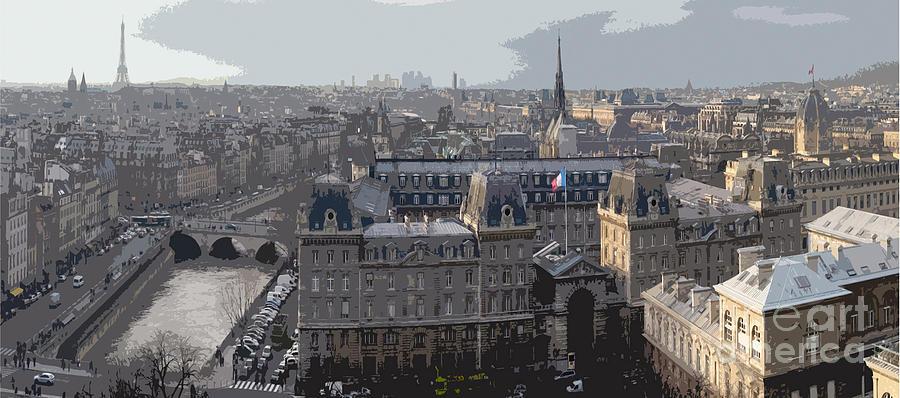 Paris Photograph - Paris 01 by Yuriy  Shevchuk
