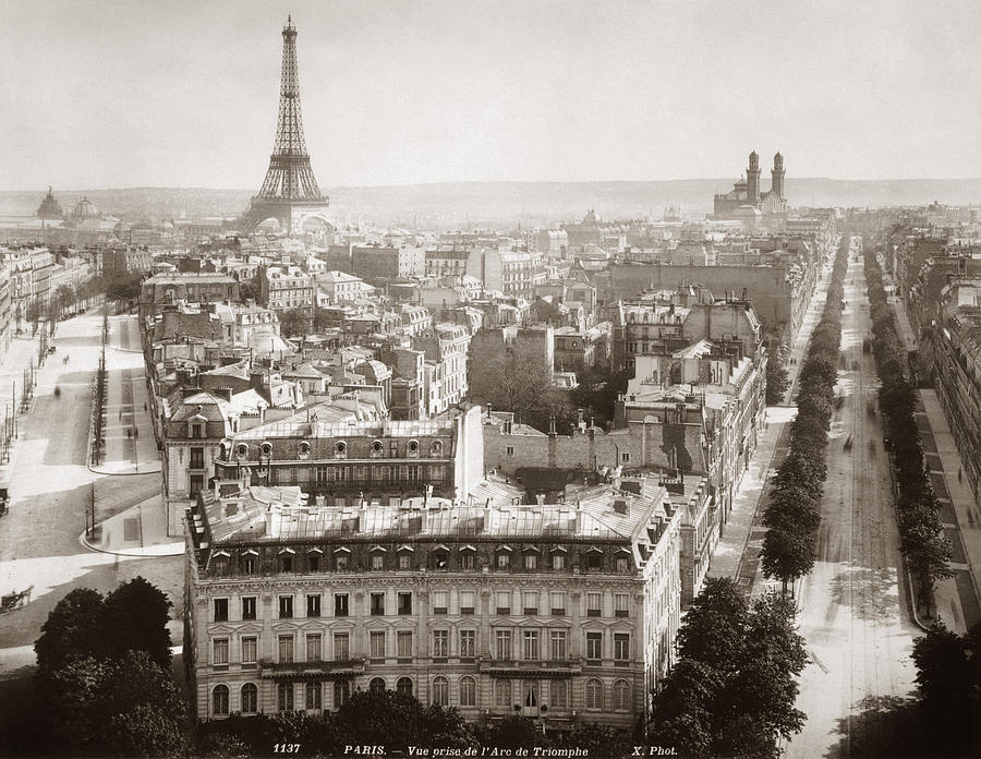 Paris Aerial View 1900 Photograph By Granger