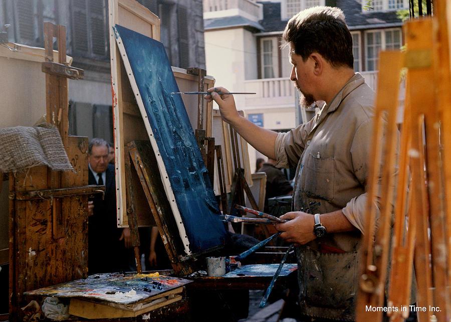 Paris Photograph - Paris Artist At Work 1964 by Glenn McCurdy