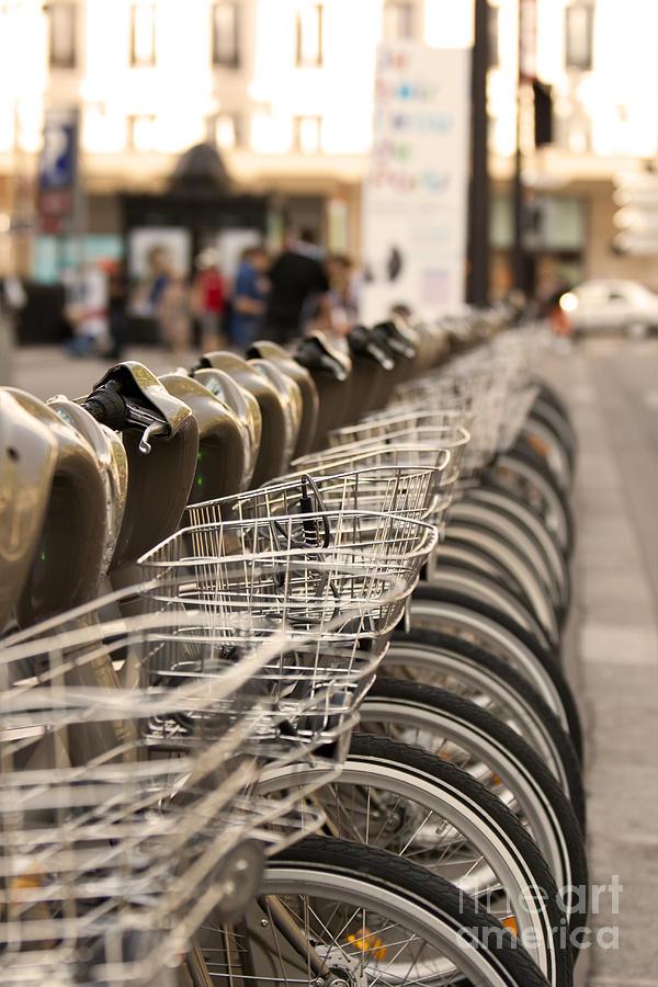 Bicycle Pyrography - Paris Bikes by Igor Kislev