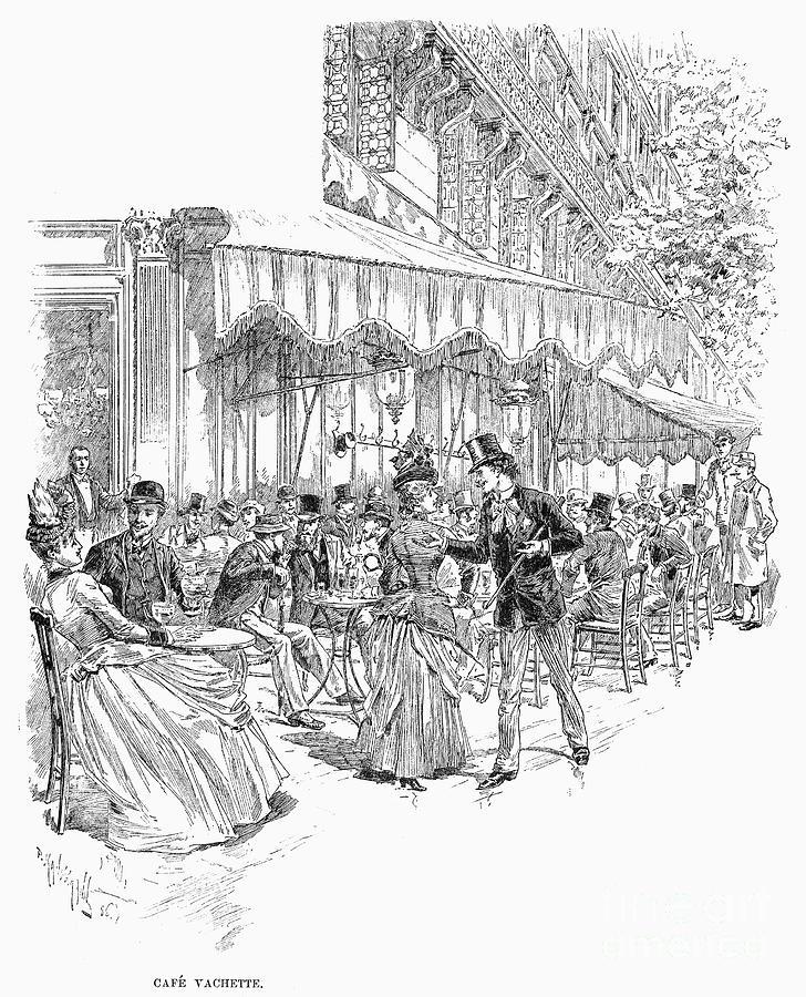 1889 Photograph - Paris: Cafe Vachette, 1889 by Granger