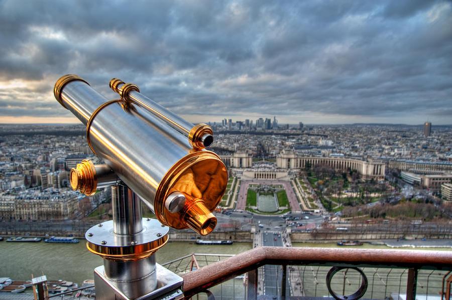 Horizontal Photograph - Paris Cityscape by Romain Villa Photographe
