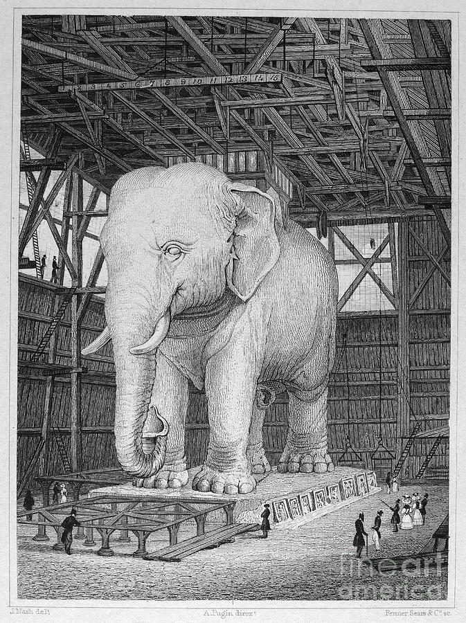 1830 Photograph - Paris: Elephant Monument by Granger