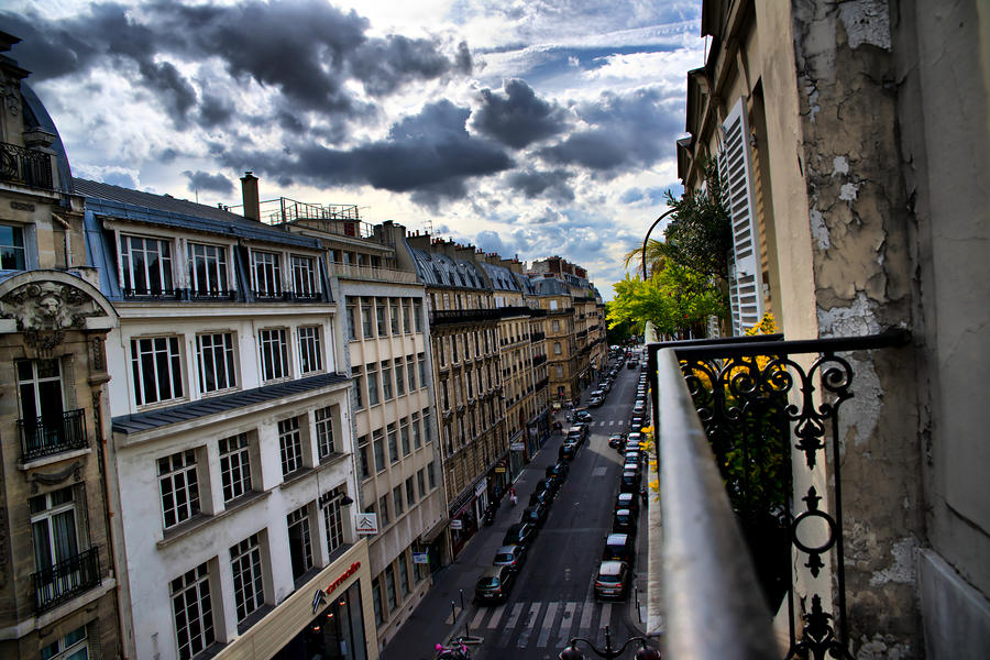 Street Photograph - Paris from a Balcony by Edward Myers