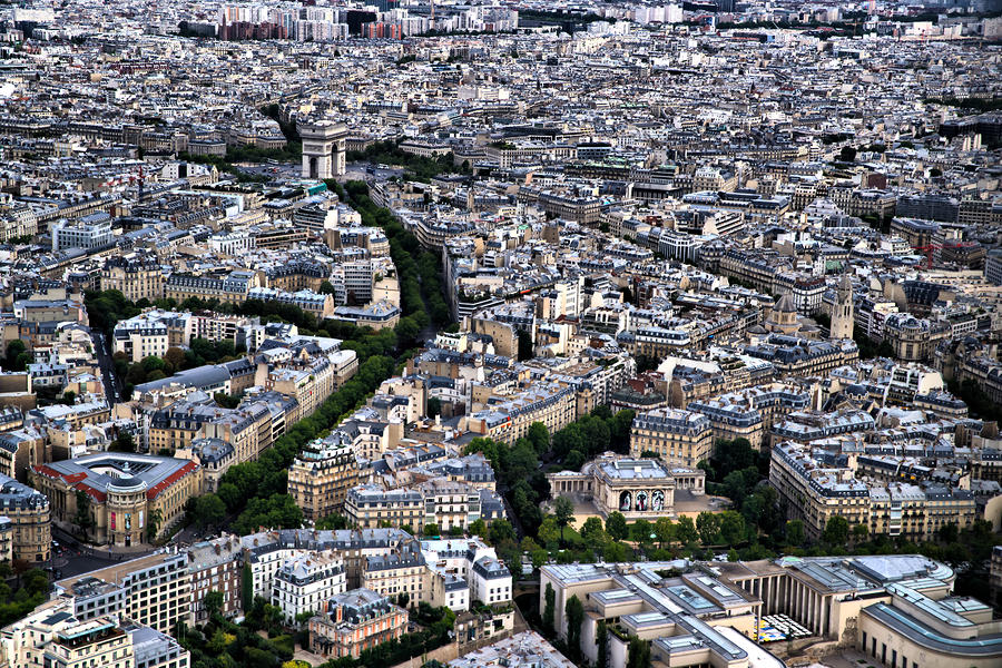 Paris Photograph - Paris from Above 2 by Edward Myers
