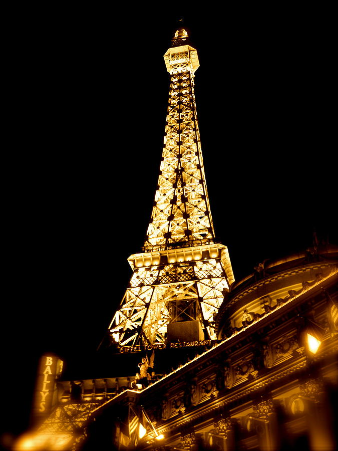 Paris Photograph - Paris In Vegas by Amber Hennessey
