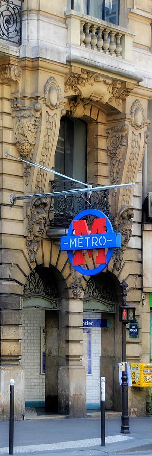 Paris Photograph - Paris Metro 5 by Andrew Fare