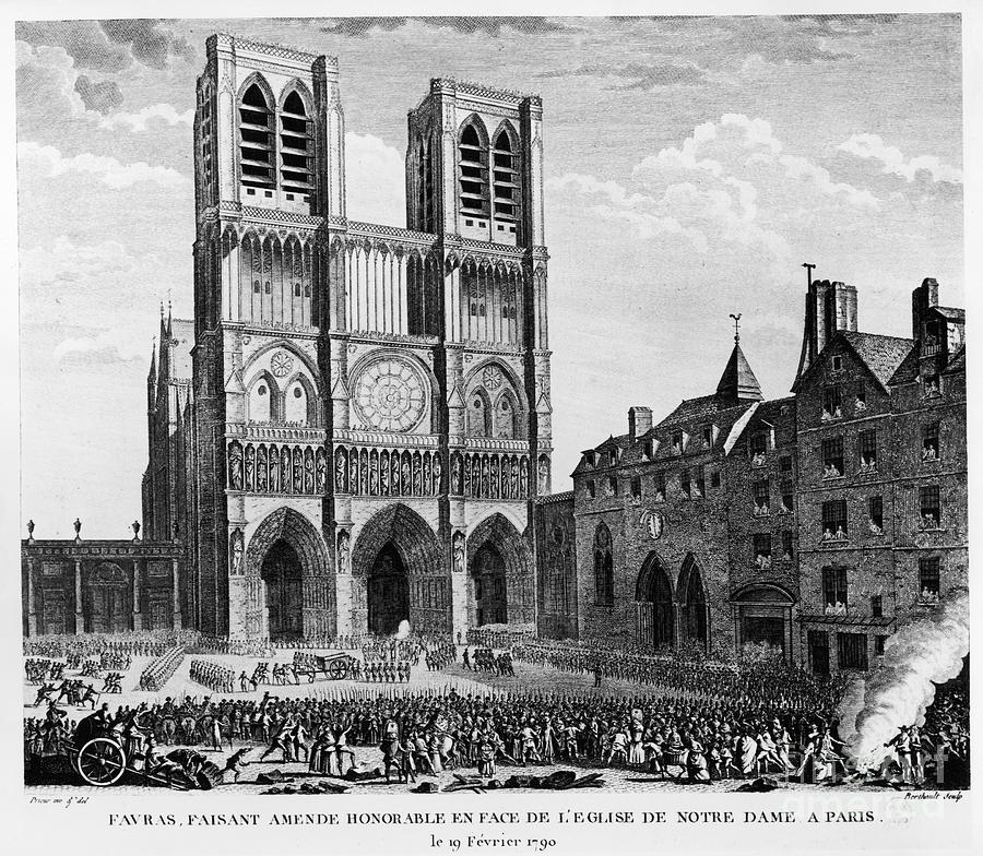 1790 Photograph - Paris: Notre Dame, 1790 by Granger