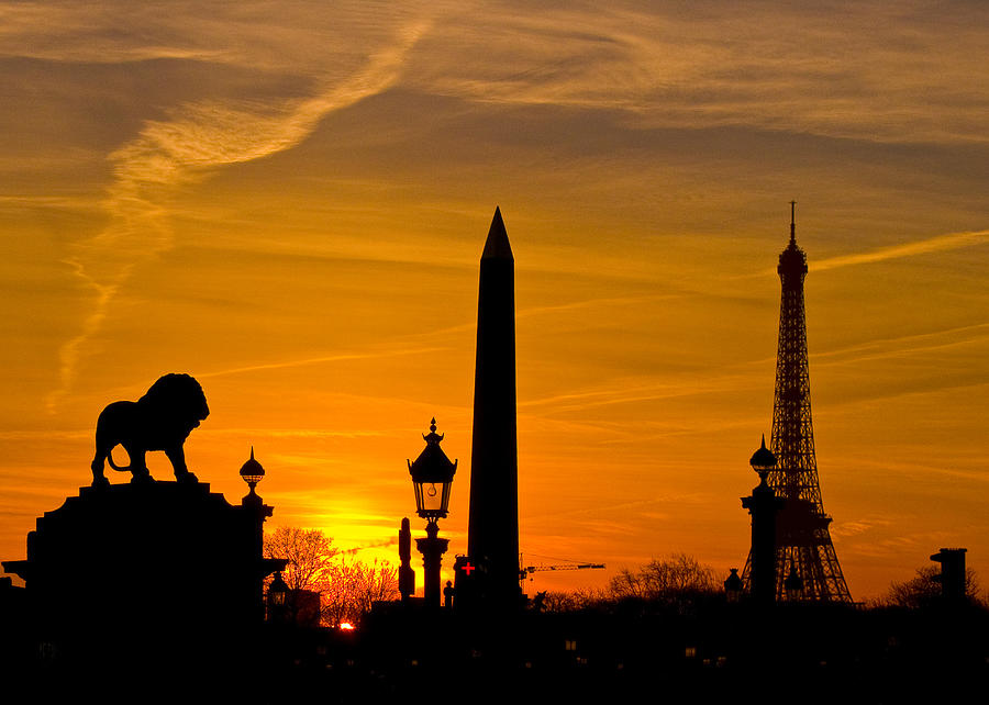 Paris Photograph - Paris Sunset by Kurt Weiss
