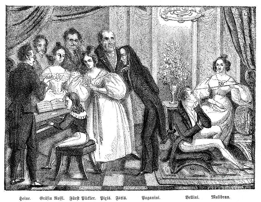 1830s Photograph - Parisian Salon by Granger