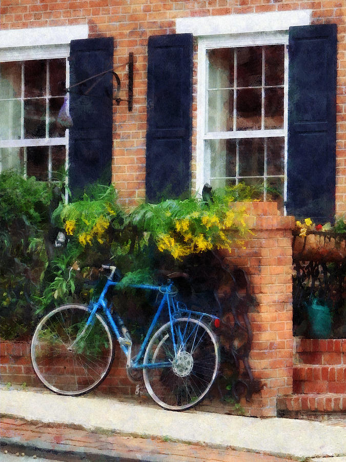Bicycle Photograph - Parked Bicycle by Susan Savad