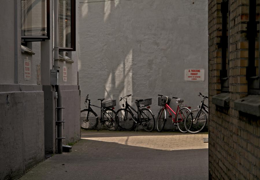 Courtyard Photograph - Parking In Rear by Odd Jeppesen