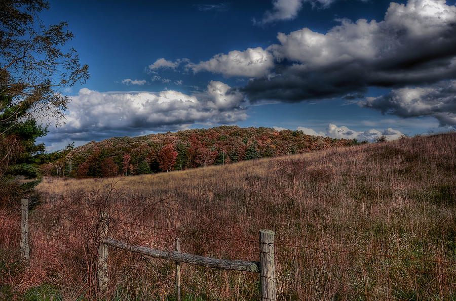 Blue Ridge Parkway Photograph - Parkway Fence by Todd Hostetter