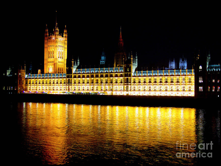 Parliament Photograph - Parliament At Night by Thanh Tran