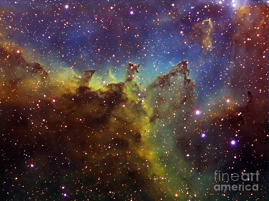 Astronomy Photograph - Part Of The Ic1805 Heart Nebula by Filipe Alves