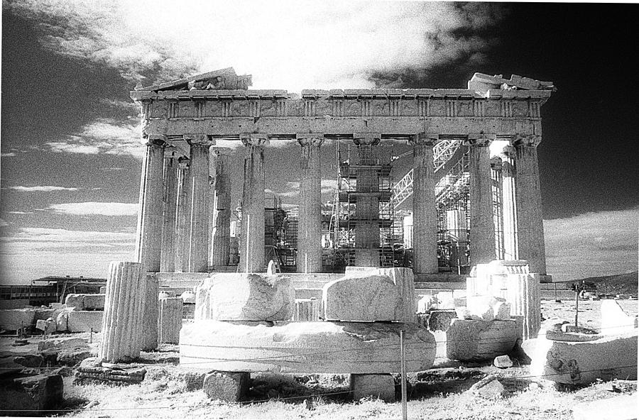 Acropolis Photograph - Parthenon Infrared by Andonis Katanos