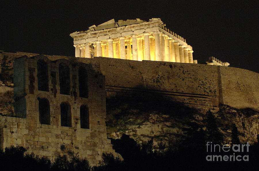 Parthenon Photograph - Parthenon Athens by Bob Christopher