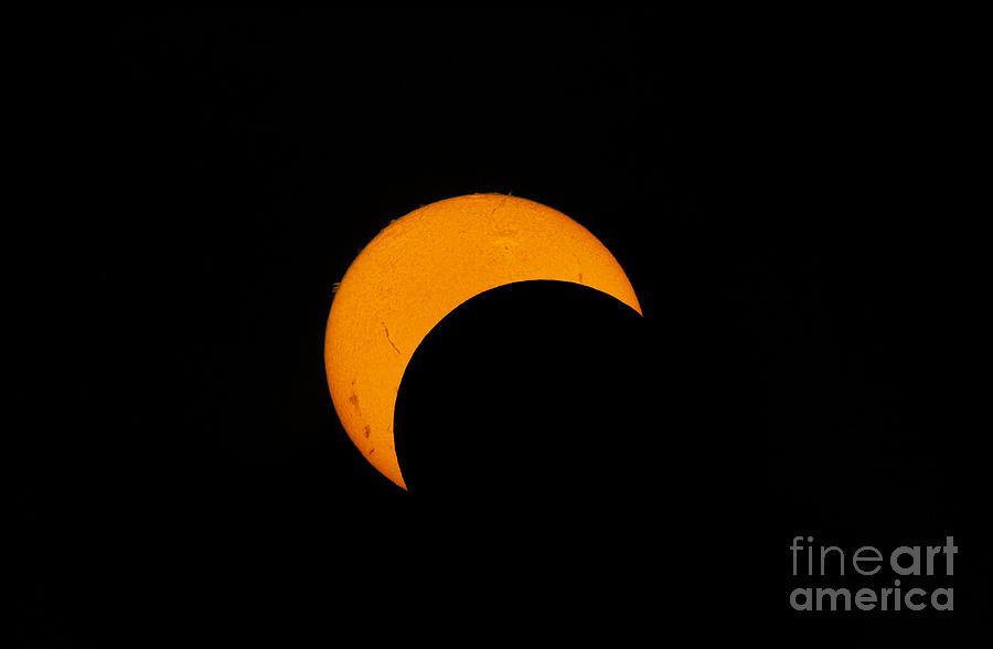 Natural Phenomenon Photograph - Partial Solar Eclipse Of 2012 by Phillip Jones