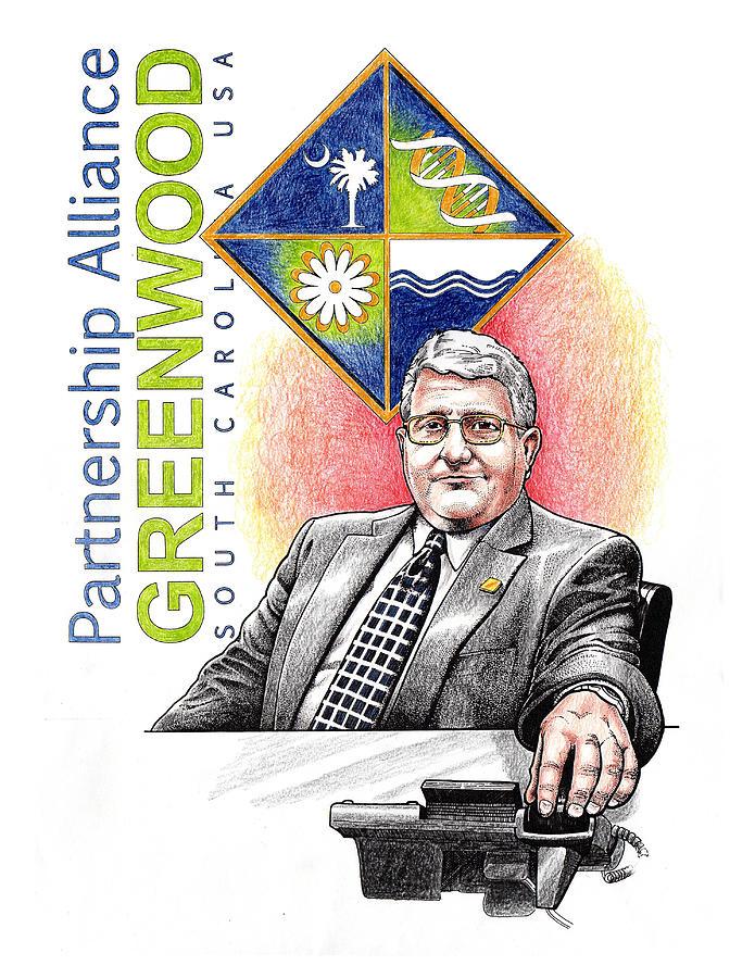 Greenwood Drawing - Partnership Alliance by Paul Abrahamsen
