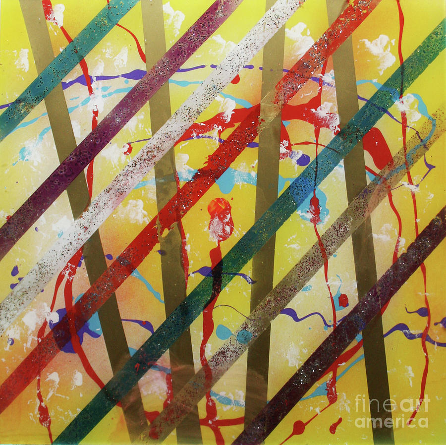 Party Painting - Party - Stripes 2 by Mordecai Colodner