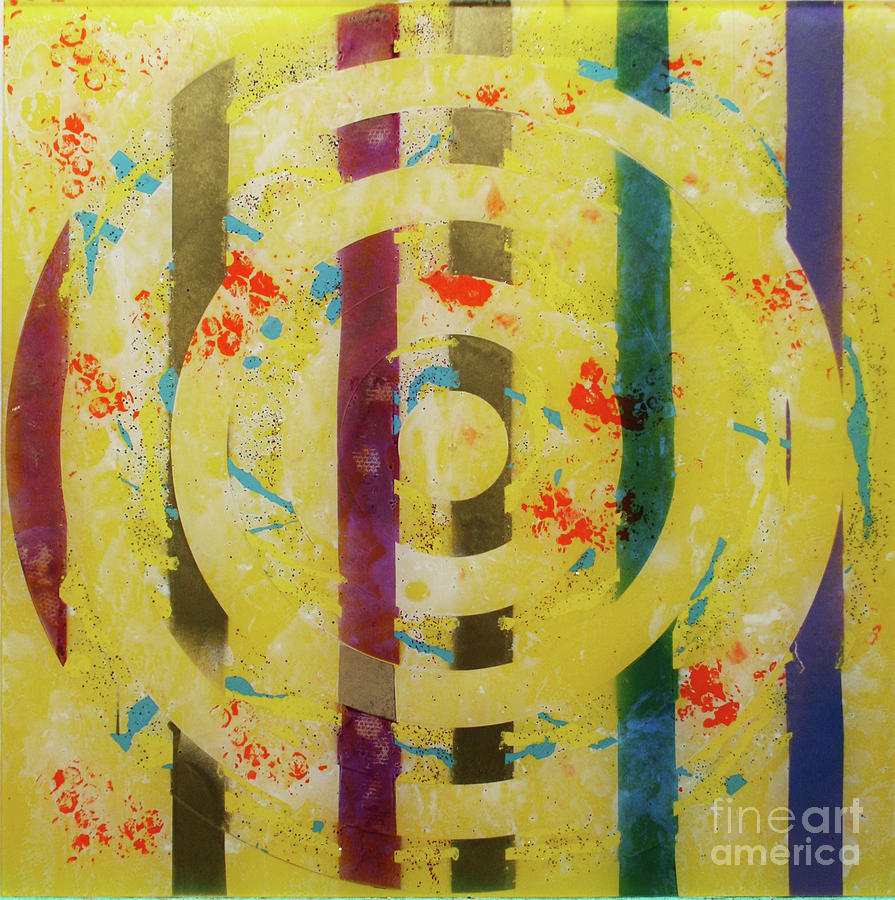 Abstract Painting - Party- Bullseye 1 by Mordecai Colodner