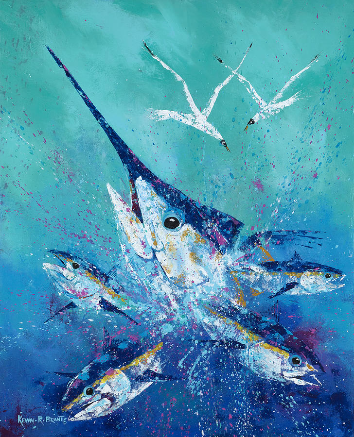 Marlin Painting - Party Crasher by Kevin Brant