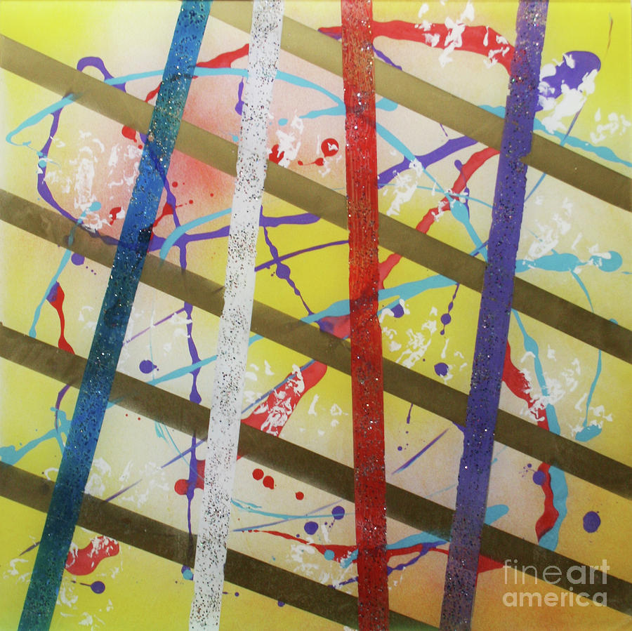 Party Painting - Party-stripes-1 by Mordecai Colodner