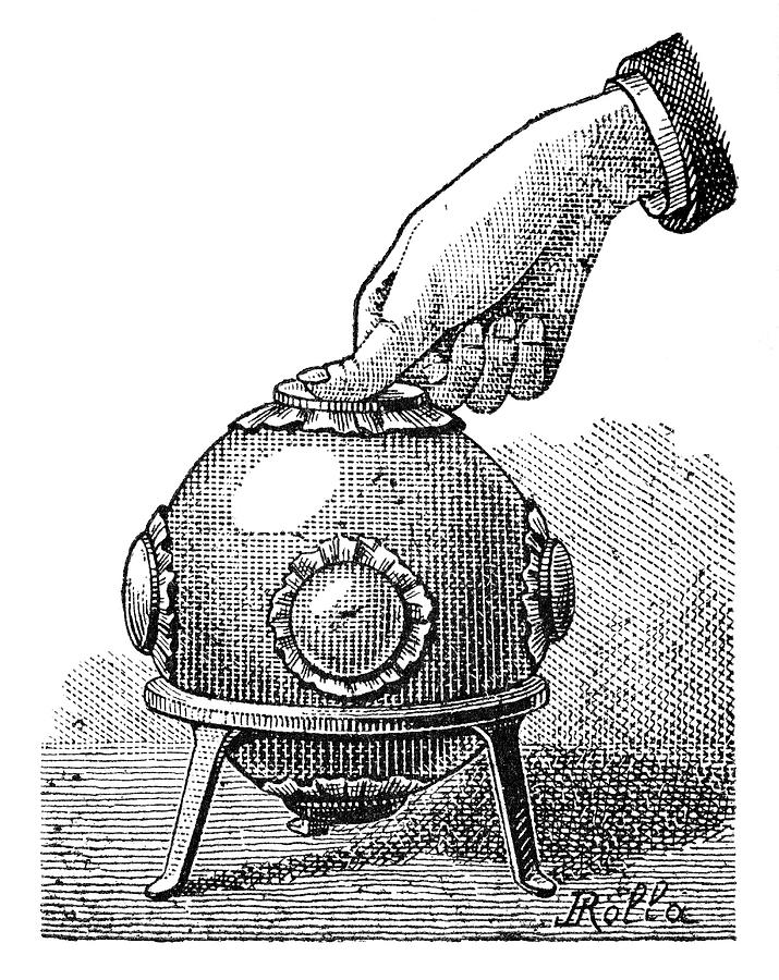 Pascal's Principle Photograph - Pascals Principle Demonstration, 1889 by