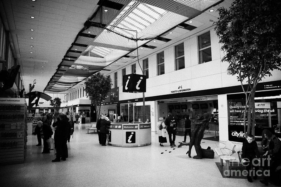 Glasgow Photograph - passenger concourse of Glasgow Buchanan street bus station Scotland UK by Joe Fox