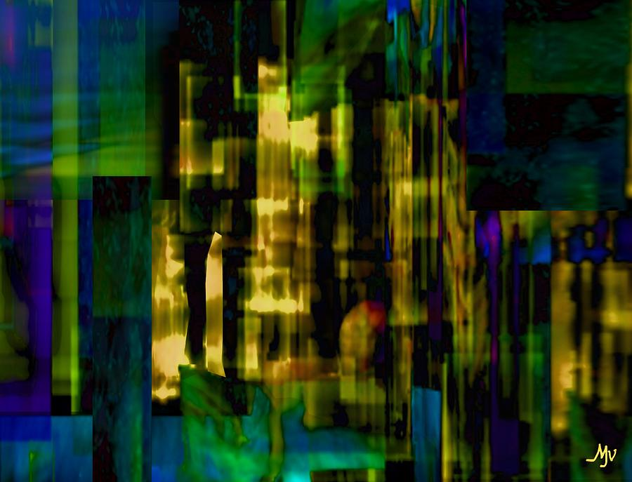 Abstract Digital Art - Passing Crowd by Mathilde Vhargon